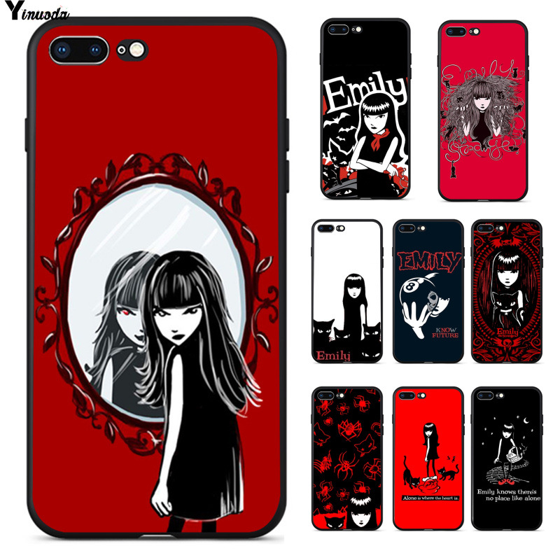 Yinuoda cartoon Emily The Strange High Quality Phone Accessories Case for Apple iPhone 8 7 6 6S Plus X XS MAX 5 5S SE XR