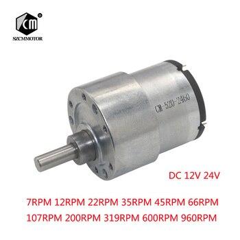 37mm 12V DC 7RPM to 960RPM High Torque Gear Box Electric Motor New Gearmotor zndiy bry 12v dc 15rpm high torque gear box electric motor