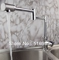 Wholesale Retail ..Chrome Brass Kitchen Faucet Swivel Vessel Sink Mixer Tap tree710