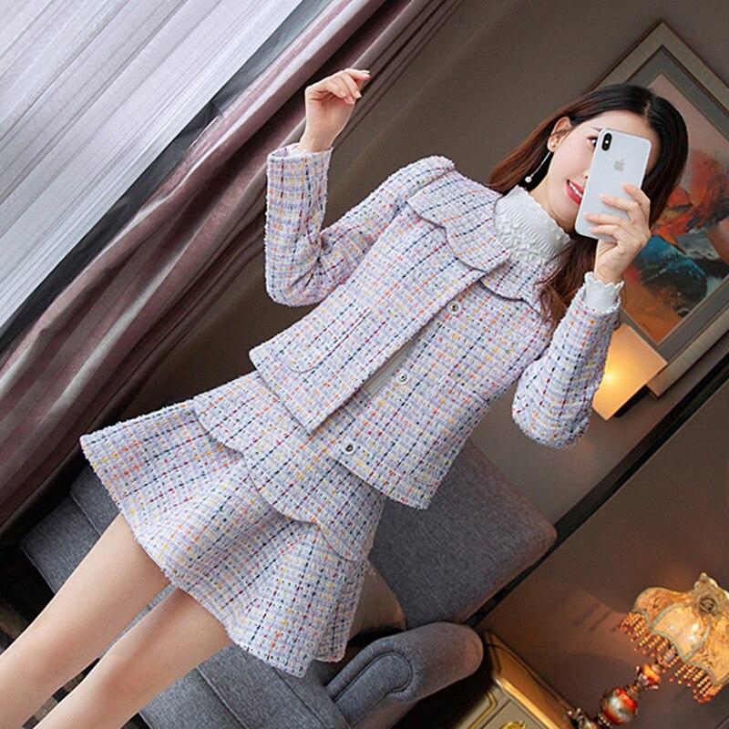 Haute Tweed 4 Couture Pannello Abbigliamento Di Womans B4243 Partito Set Corta Donne 2 Pezzo Giacca Tessuto 3 2 Giovanile 2019 Tendenza Del Delle Esterno Prodotti 1 rrdq4I