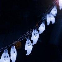 חבילה של 30 set Ghost חיצוני עמיד למים 20 מטר 30 נוריות שמש מחרוזת אורות גן עץ חג המולד חצר סיפון באמצעות DHL חינם.