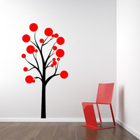 Polka Dot Tree Wall Decal removable sticker art decor mural kids children teen 60inch