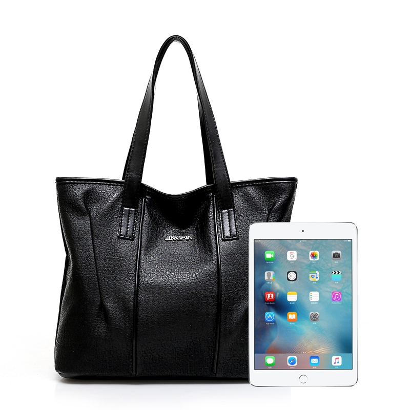 KVKY Women Handbags High Quality Soft PU Leather Women Bag Fashion Hobos Big Shoulder Bags Solid Large Capacity Tote Bags bolsas in Shoulder Bags from Luggage Bags