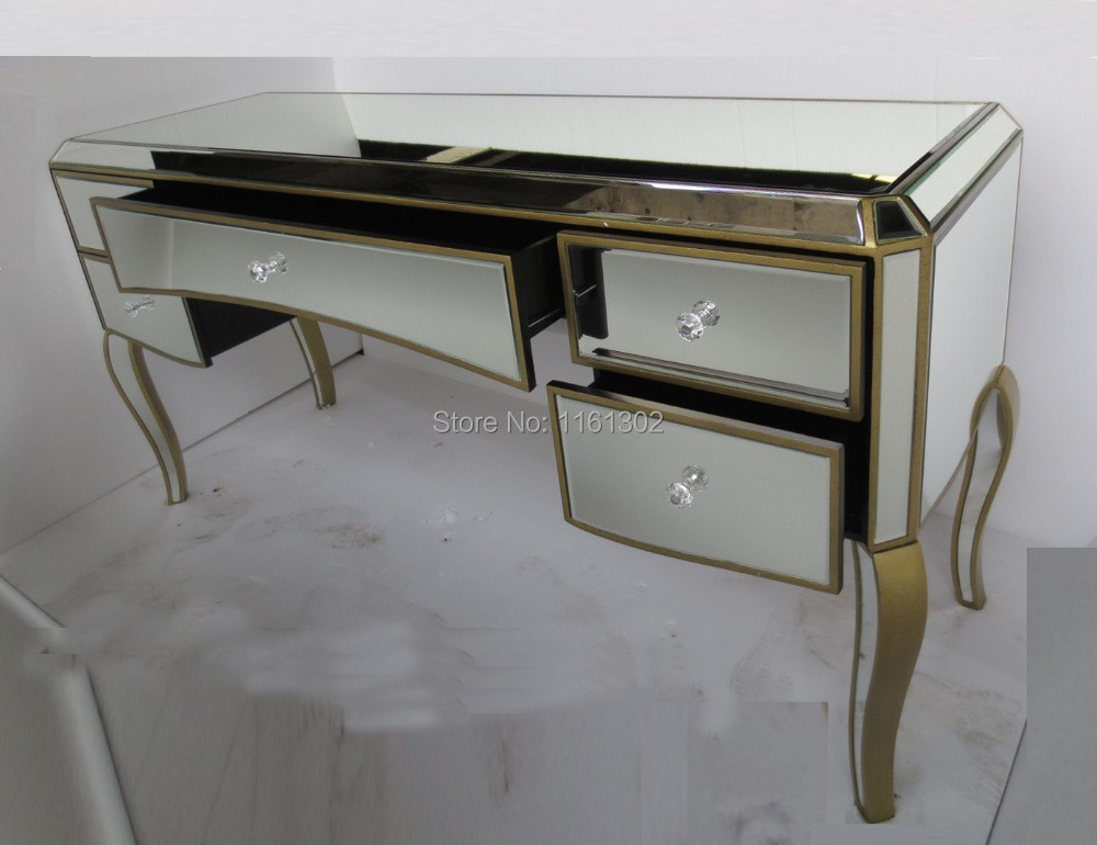 MR 401051 Antique Gold Rimming Mirrored Drawers Vanity Table In Dressers  From Furniture On Aliexpress.com | Alibaba Group