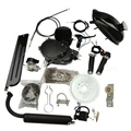 80cc 2-Stroke Motor Engine Kit for Motorized Bicycle Assembly Set Bike Gas Powered Silver/Black
