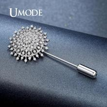 UMODE Sun Flower Brooches for Women Wedding Bridal Jewelry Birthday Party Clothing Accessories Fashion Brooch Zircon Pins UX0009