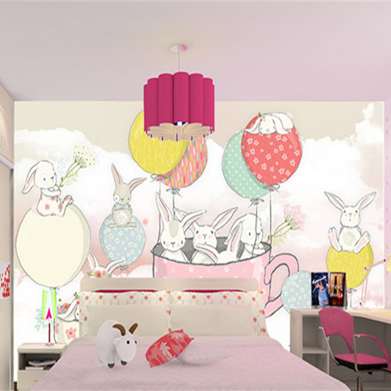 Custom 3D Murals Animals Cartoon Rabbit Wall Murals Hand Painted Wallpapers for Living Room Background Wall Papers Home Decor