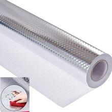 1 шт., самоклеющиеся термостойкие масляные наклейки из алюминиевой фольги, кухонные принадлежности для шкафа, канализационного настенного ящика
