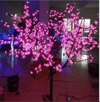 Бесплатная доставка 6.5ft светодиодное дерево Открытый Путь Сад Дисплей праздник свадьбу Рождество Свет Декор 864 светодиодов Розовый IP65