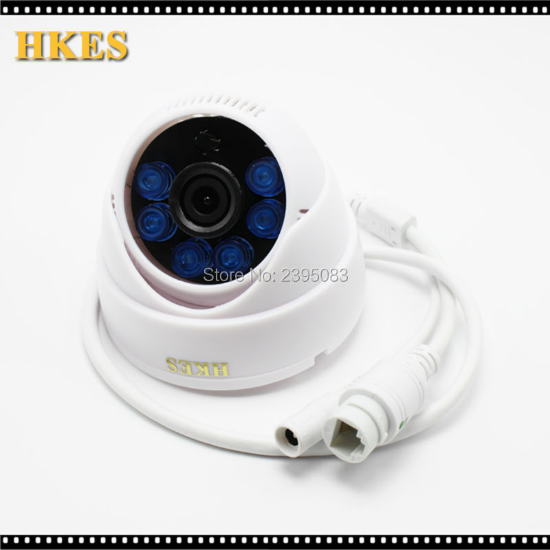 HKES HD 2.0 MP 1080P Dome security Surveillance CCTV IP Camera IR night vison ONVIF 2.0 network indoor Cam P2P phone mdc3100lt b1 super night vison king exclusive 1 2 cmos mdc cctv camera with mscg glass original mdc camera without bracket