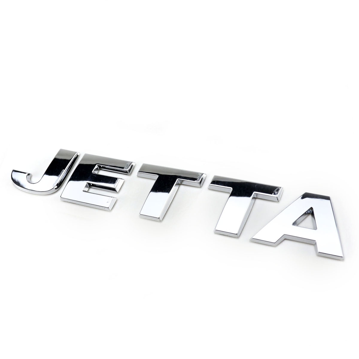 OEM Jetta Emblem Rear Trunk Lid Car Accessories Decal Badge Sticker for VW Volkswagen Logo Silver Chrome auto chrome camaro letters for 1968 1969 camaro emblem badge sticker