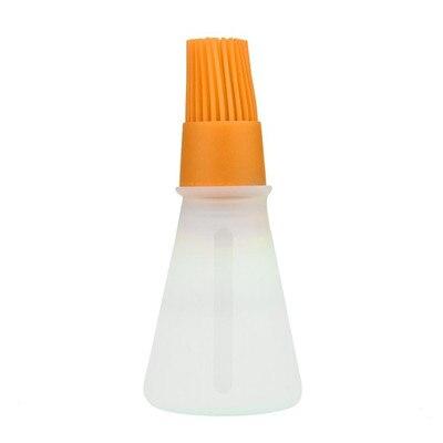 Силиконовая кисть для масла, кисти для выпечки, жидкое масло, ручка для торта, Масло Хлеб, ручка для жидкого масла, круглая щетка для барбекю, кухонный инструмент, новинка - Цвет: Orange