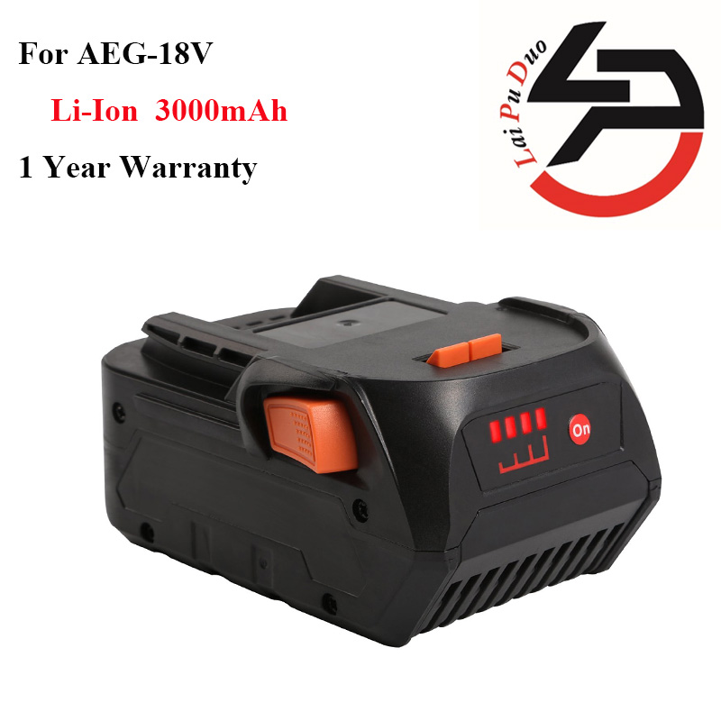 ФОТО New Arrival High Quality 18V 3.0Ah Replacement Power Tool Battery for  AEG Rigid BFL 18 AC840084 L1815R