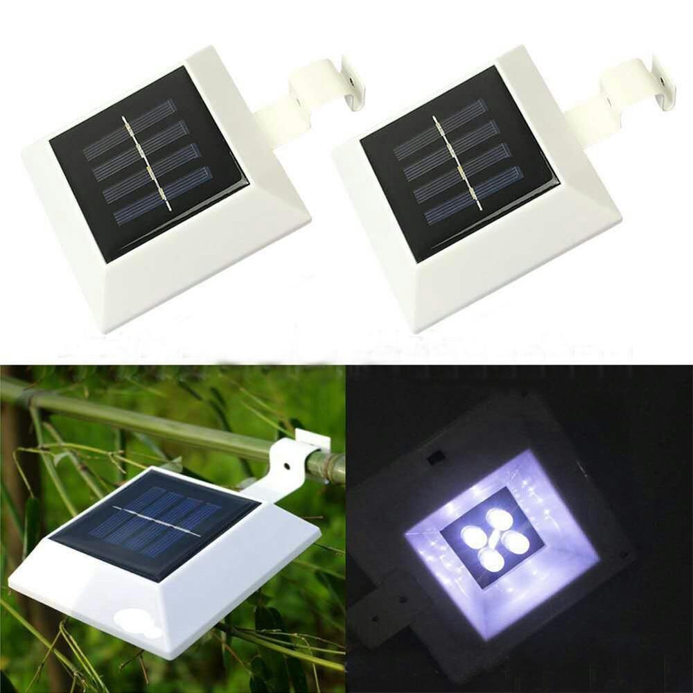 4 Led Solar Power Garden Light Outdoor Fence Light Lobby