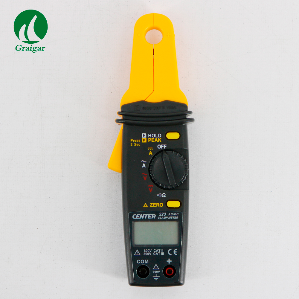 CENTER 223 Mini Clamp Meter Clamp Meter Tester AC Clamp Meter 3 1/2 4 digitale flüssigkeit display - 4
