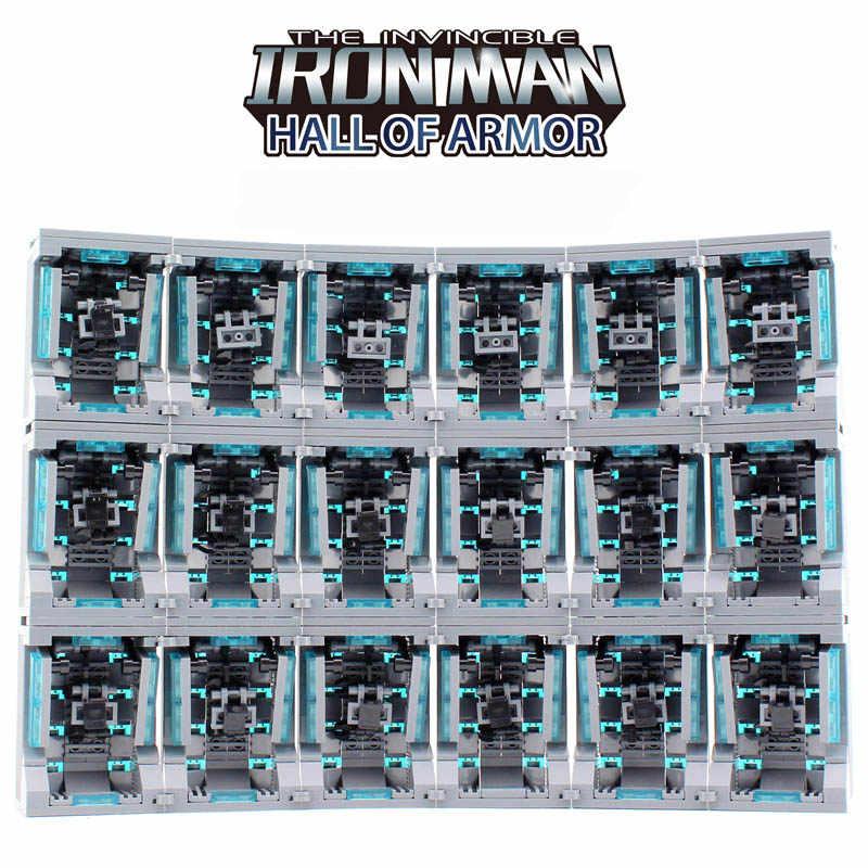 Новый Legoing Super Heroes ironman Hall of Armour строительные блоки кирпичи для Железного человека Минифигурки Игрушки для детей Рождественский подарок