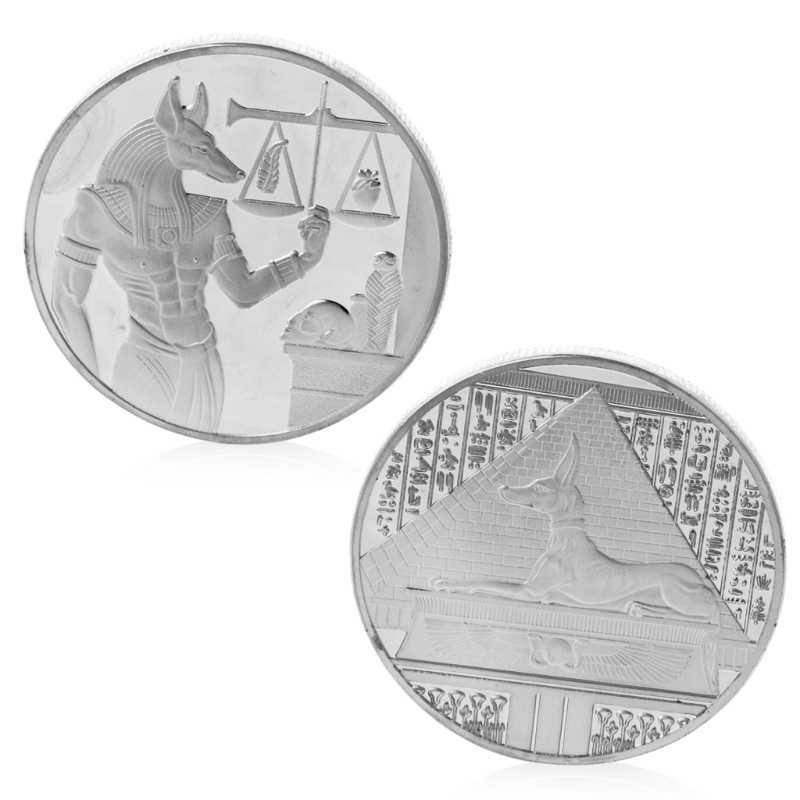 Памятная монета сувенир Посеребренная либра египетская Пирамида памятная монета сувенир