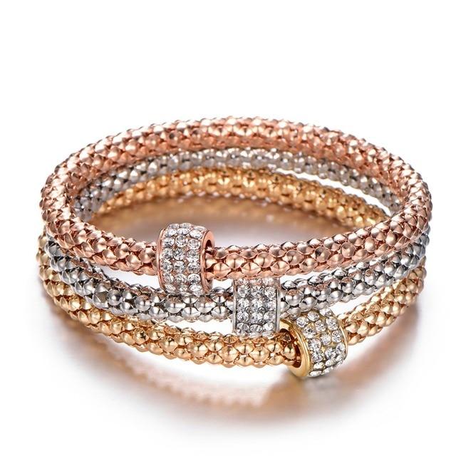 3Pcs Tree of Life Bracelet Popcorn Owl Heart Anchor Musical Note Charm Bracelets For Women Pulseria Feminina Boy & Girl Jewelry 3