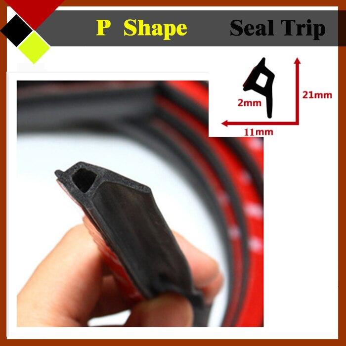 P Shape Auto Exterior Door Rubber Seal Trim Noise Proofing Strip
