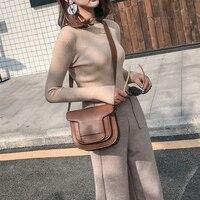 Принцесса сладкий Лолита Сумки ENSSO японский модные и повседневные косые мини седло мешок кожаная сумка женская ENSSO 123