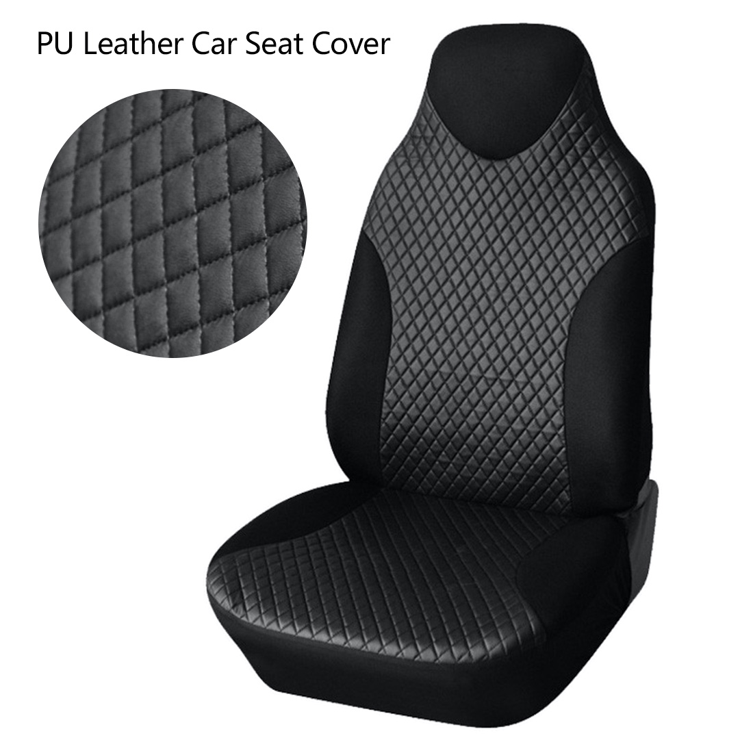 Dewtreetali Front Car Seat Cover PU Leather Universal Protector For Auto Covers Interior Accessories Styling