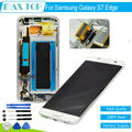 100% Tested 5.5'' 2560*1440 For Samsung galaxy S7 edge G9350 G935F G935FD LCD Display+Touch Screen Digitizer Assembly + Frame