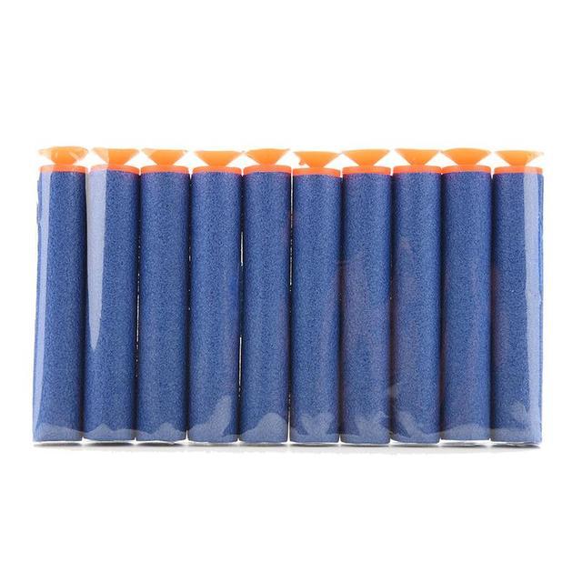 100 Pcs/lot Toy Gun Bullet Series Blasters Refill Clip Darts soft bullet 3 Colors