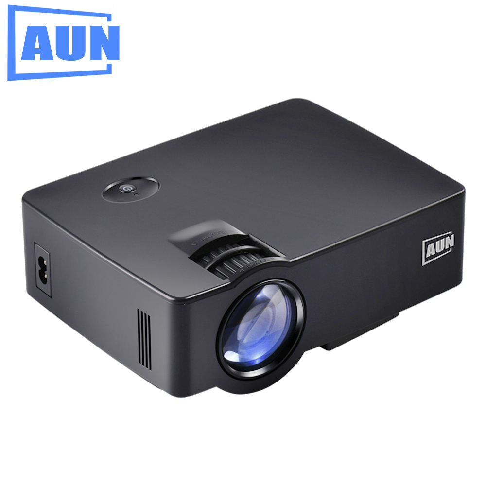 AUN Projector 1800lumens AKEY1/AKEY1X MINI Beamer for Home Theater, Low Noise LED Proyector HD In Full HD 1080P Video LED TV 1000lumens 1080p hd home theater lcd pc the hdmi usb pico video game led mini projector projector hd proyector beamer