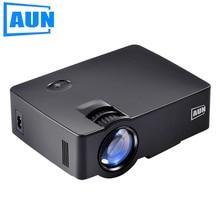 Аун проектор 1800 люмен AKEY1/AKEY1X Мини проектор для домашнего Театр, низкая Шум LED proyector HDMI Full HD 1080 P видео светодиодный ТВ