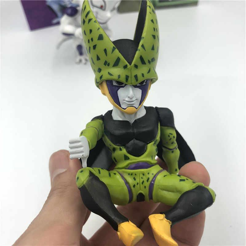 21 pçs/lote Vegetto Vegeta Freeza Dragon Ball Z Goku Gogeta Super Saiyan Deus Luta Anime PVC Figura Collectible Toy Modelo