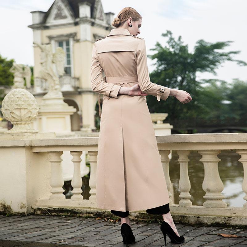 X 2018 Automne Classique Manteau Coupe Breasted Hiver Office Double Qualité Tranchée Lady Oversize Mode Nouveau Femmes Haute vent longue zxA40Iwnq