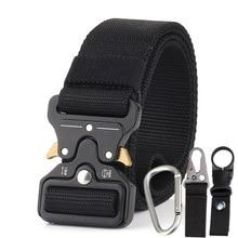HUOBAO Camouflage Nylon Belt Men Army Belt Molle SWAT Combat Belts Emergency Survival Waist Tactical Gear ceintures