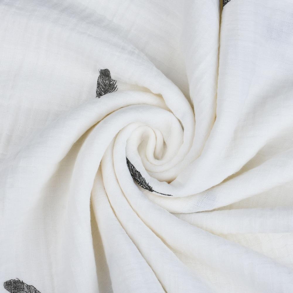 Baby Muslin Swaddle Blanket 3 Pack - 47 '' x 47 '' Duży koc do - Pościel - Zdjęcie 5