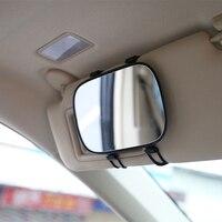 Neue Ankunft Tragbare Auto sonnenblende Make Up Spiegel Auto Innen Sonnenschutz HD Kosmetische Spiegel Auto Eitelkeit Spiegel Auto styling-in Rückspiegelabdeckung aus Kraftfahrzeuge und Motorräder bei