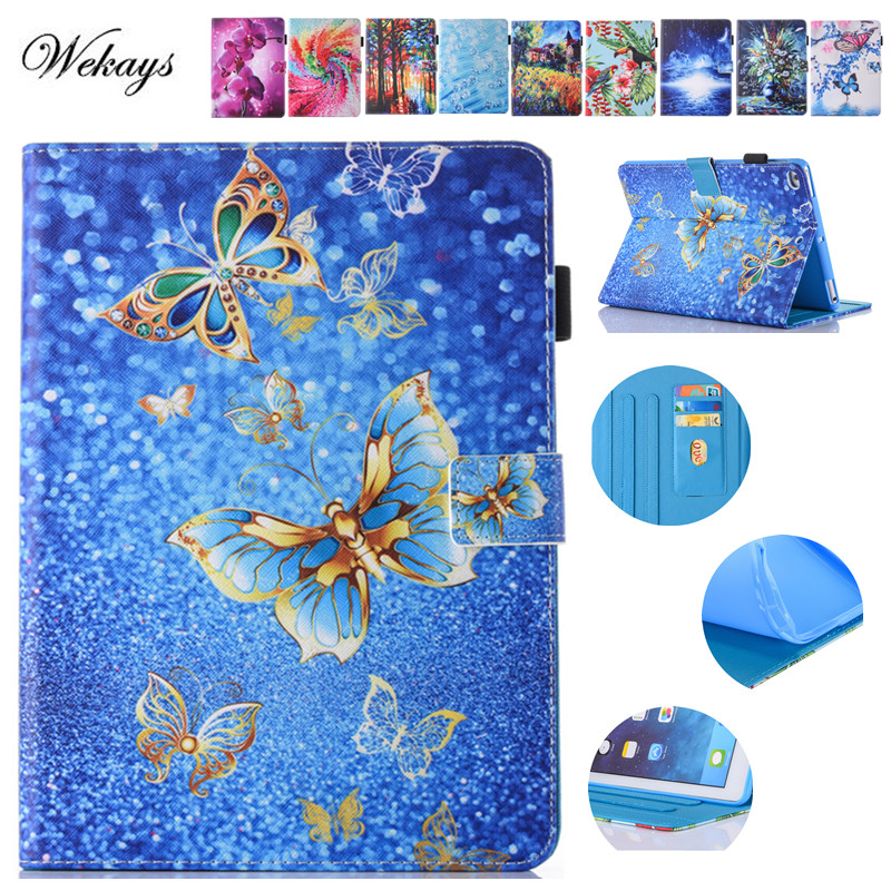 Wekays Fashion Painted Case Cover For Apple iPad Air 2 Funda cases Model For Ipad 6 Air2 PU Leather Stand Shell Table Cover Capa flip left and right stand pu leather case cover for blu vivo air