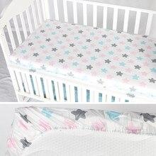 Детская кровать, простыня для кроватки, наматрасник, хлопок, простыня для кроватки, мягкая детская кровать, защитный чехол для матраса, Мультяшные постельные принадлежности для новорожденных