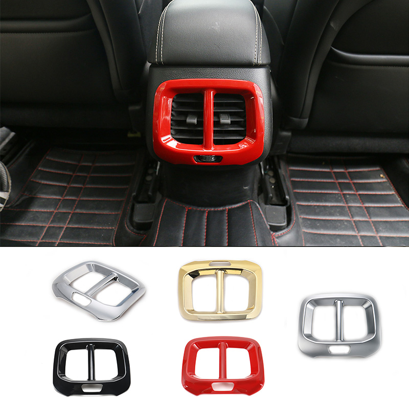 SHINEKA High Quality ABS Rear Seat Air Outlet Vent Cover Frame for Jeep Cherokee 14 16