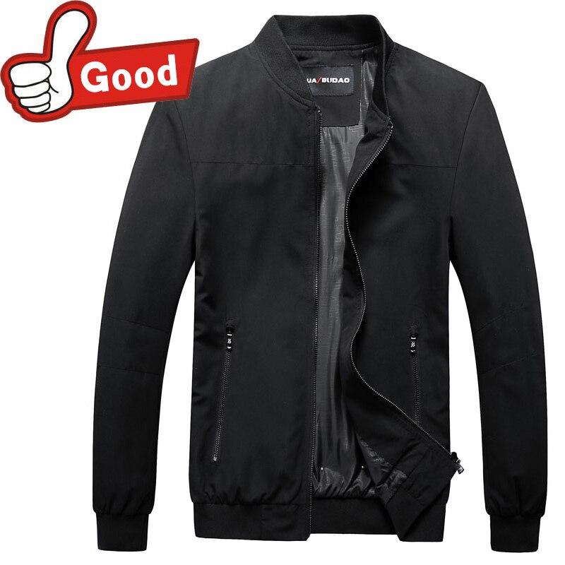 2016 Mince Veste Hommes Mode Casual Lâche Mens Veste style Bomber Solides Veste Mens Zipper Manteaux