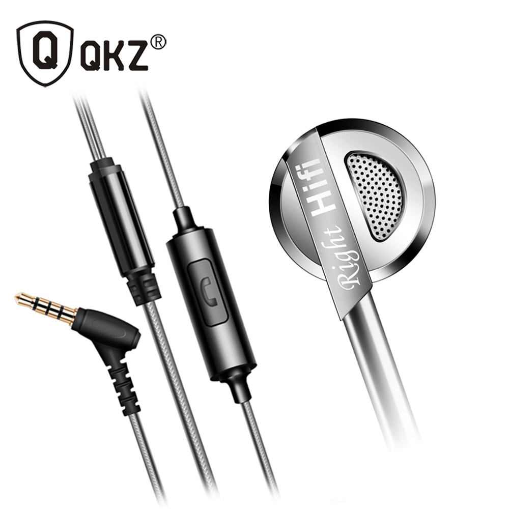 Earphone QKZ DM9 Zinc Alloy HiFi In Ear Earphones fone de ouvido Headset auriculares audifonos Stereo BASS Metal DJ earphones bass headset qkz dm2 phone headset metal auriculares ear music dj mp3 earphone headset hifi audifonos fone de ouvido