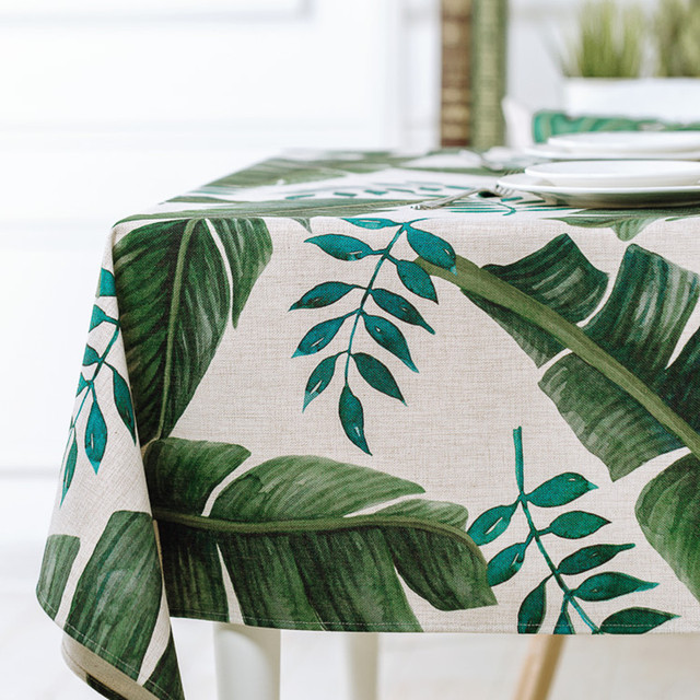 3D Photo Print Tropical Plants Green Table Cloth Table Cover Tablecloth For  Table Rectangle Square Tafelkleed