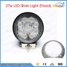 Free Shipping 2pcs 27W Round LED work lights for Offroad,ATV,4×4,For Jeep,Truck,SUV,Car,Tractor,Heavy Duty