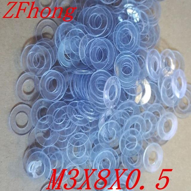 1000pcs M3 x 8 3mm pvc plastic flat washer gasket thickness 0.5mm-in ...