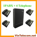 DHL free shipping-China Manufacturer VinTelecom Cheap PABX SV308 with 4 telephones