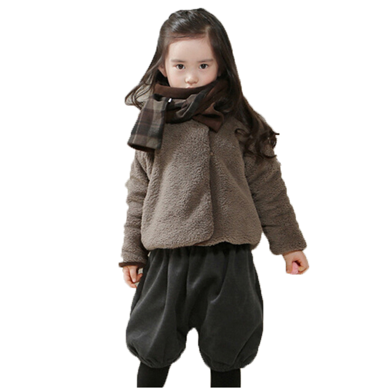 ФОТО 2017 Kids Clothes New Spring Children's Clothing For Girls Jackets Plus Velvet Thick Coat Autumn Winter Models Girls Clothes