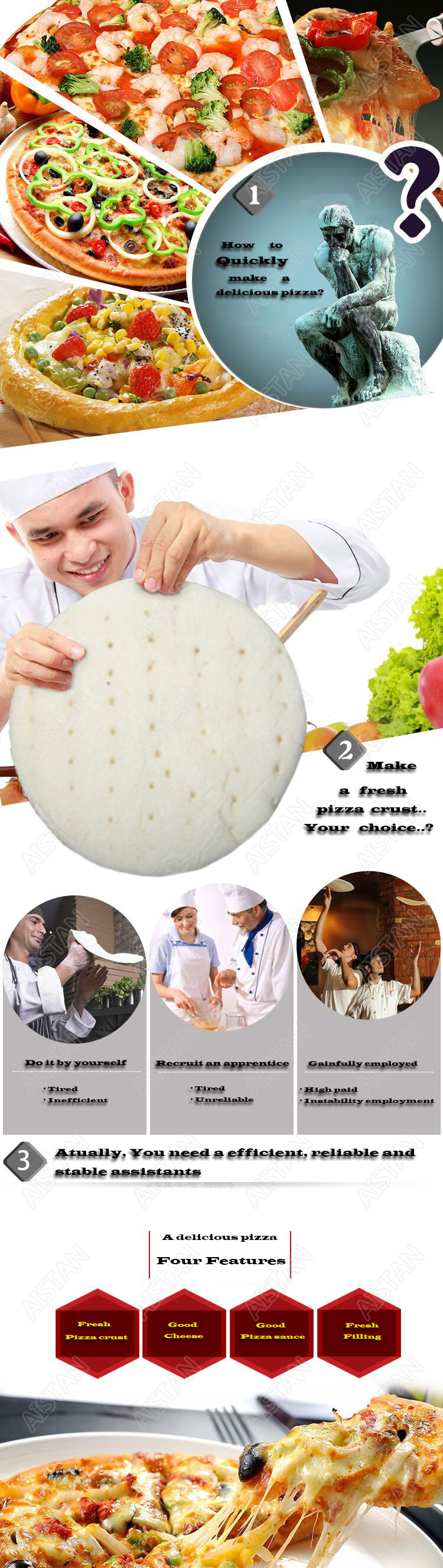 DR1V/DR1V-FP electric counter top stainless steel pizza dough roller machine pizza making machine dough sheeter 1