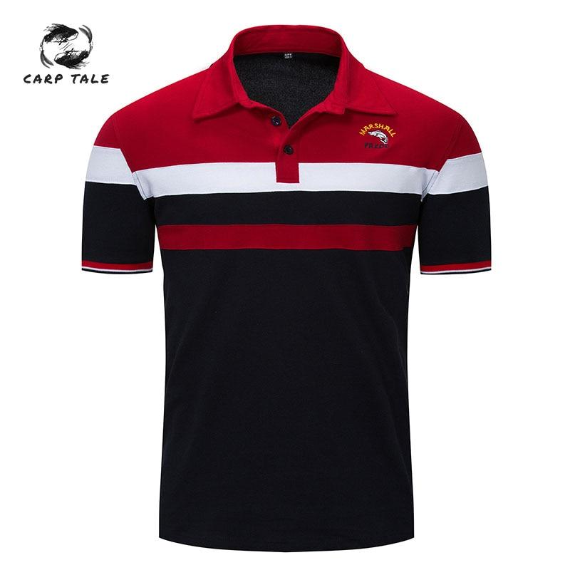 2019Cross-border new spring and summer European and American men's   polo   shirt men's lapel   polo   shirt