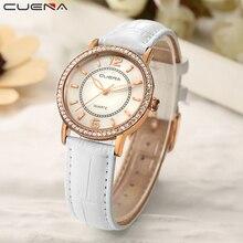 CUENA Luxury Women Watches Waterproof Quartz Watch Leather Fashion Brand Lady Watch for Woman Relogio Feminino Montre Femme 2019