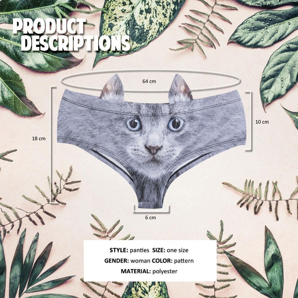 5pcs set 3D Animal Print Cute Sexy Briefs with Pig Cat Fox Ear Underwear For Women Lingerie Intimates Female Low Rise Panties in women 39 s panties from Underwear amp Sleepwears