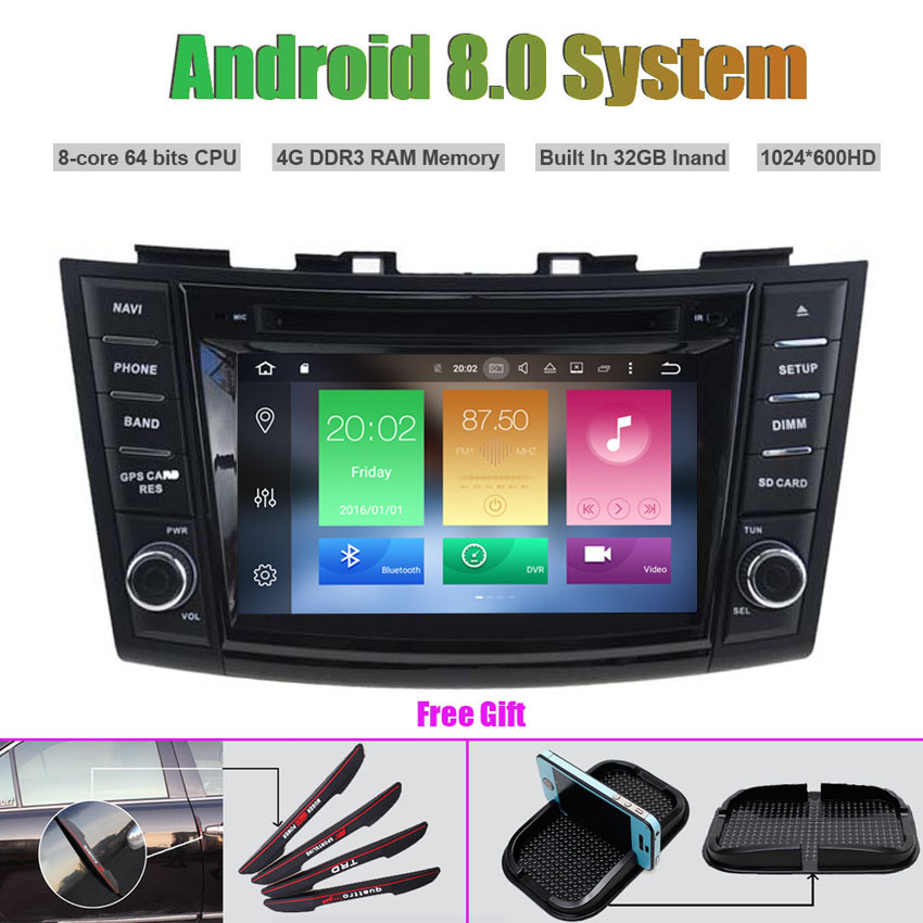 Octa Core Android 8.0 CAR DVD Player for SUZUKI SWIFT (2011 2015)/Ertiga Auto RADIO STEREO GPS navigation