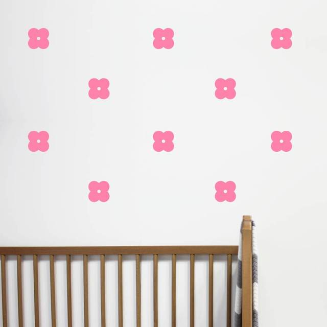 Fantastic Us 6 98 25 Off 24 Pcs Set Mini Flowers Wall Stickers For Baby Room Nursery Vinyl Wall Decals Girls Bedroom Living Room Removable Decor Za768 In Wall Download Free Architecture Designs Rallybritishbridgeorg